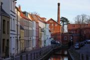 Häuser am Mühlenbach in Wismar